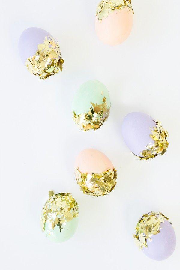 Wedding - DIY Confetti Dipped Easter Eggs