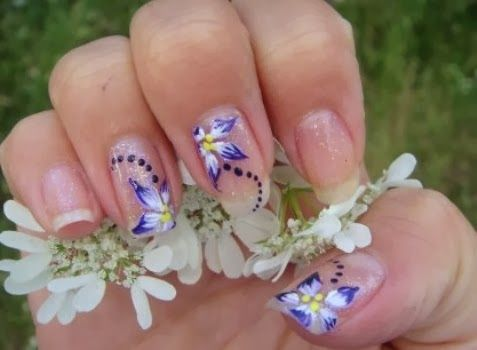 Painted nail art design - Wedding Nail Designs - Painted Nail Art Design #2064035 - Weddbook