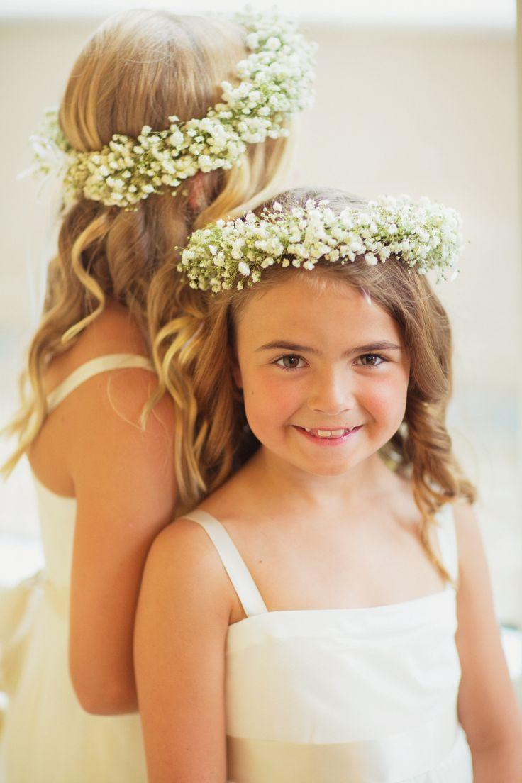 Flower girls babys breath flower crowns 2064041 weddbook babys breath flower crowns izmirmasajfo