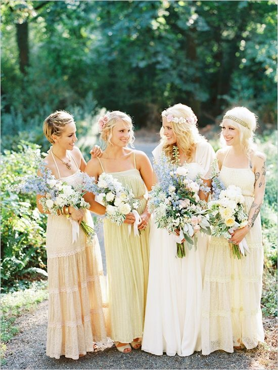 0b91169d9f4 Mismatched Bridesmaids Dresses. Wedding - Mismatched Bridesmaids Dresses