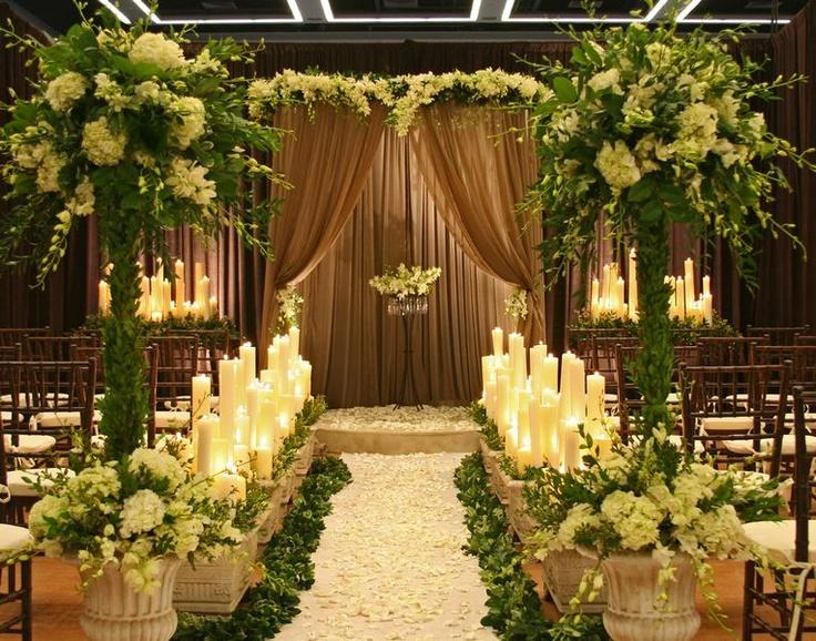Garden wedding ceremony decor indoor garden 2064292 weddbook - Garden wedding ideas decorations ...