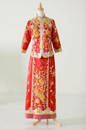 Oriental Hochzeit - Traditionelle Chinesische Hochzeitskleid ...