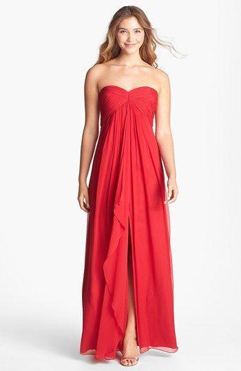 fab85c25f46 Autumn Wedding - Jill Jill Stuart Silk Gown In True Red  2064453 ...