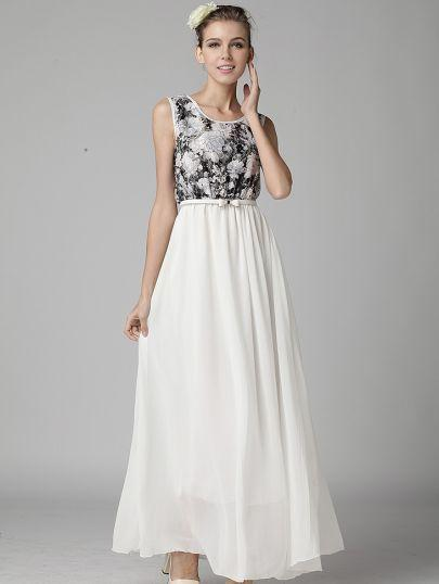 Lace Full Length Dress