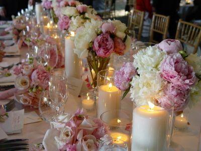 Pink Wedding - Candles & Flowers #2064655 - Weddbook