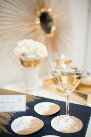 Mariage - Bleu moderne et de mariage de l'or