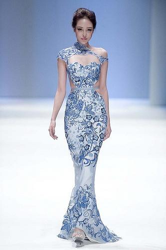 Gorgeous Oriental Woman Wedding Dress