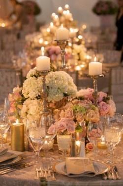 Pink Wedding - Flowers & Candles #2064967 - Weddbook