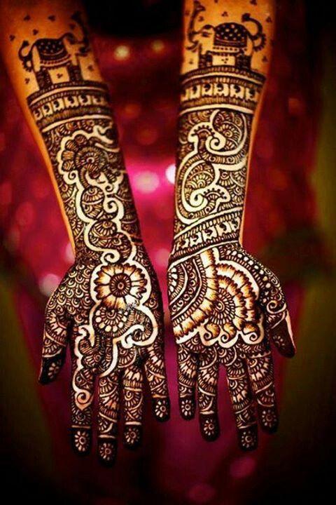 Boda - Diseños de novia Mehndi de la alheña