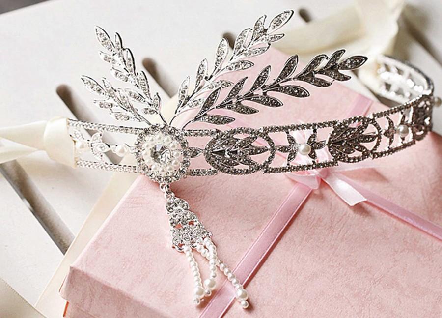زفاف - Wedding dangle chain crown