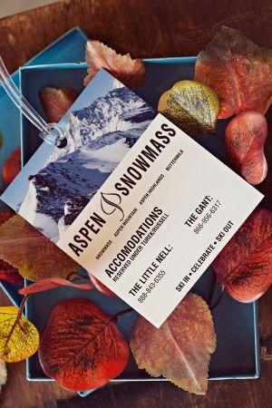 Wedding - Fall Ski-Inspired Aspen Save The Dates