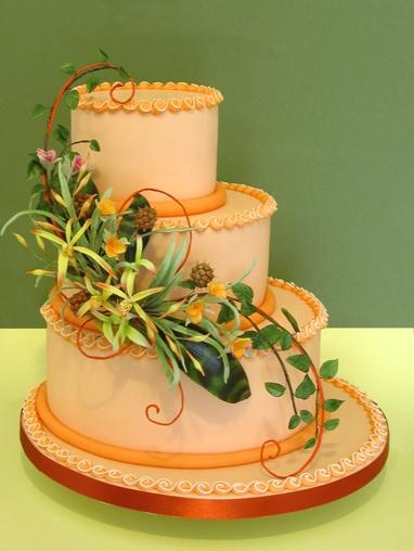 Свадьба - Многоуровневое Шаг Торт