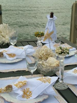 Mariage - Tablesetting avec coquillages