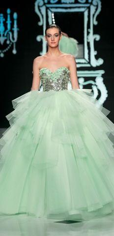 Mint Green Gown By Abed Mahfouz 20 12