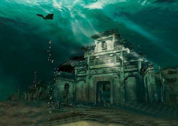 زفاف - يمكنك زيارة أحد المدينة الصينية القديمة هذا 100FT تحت الماء