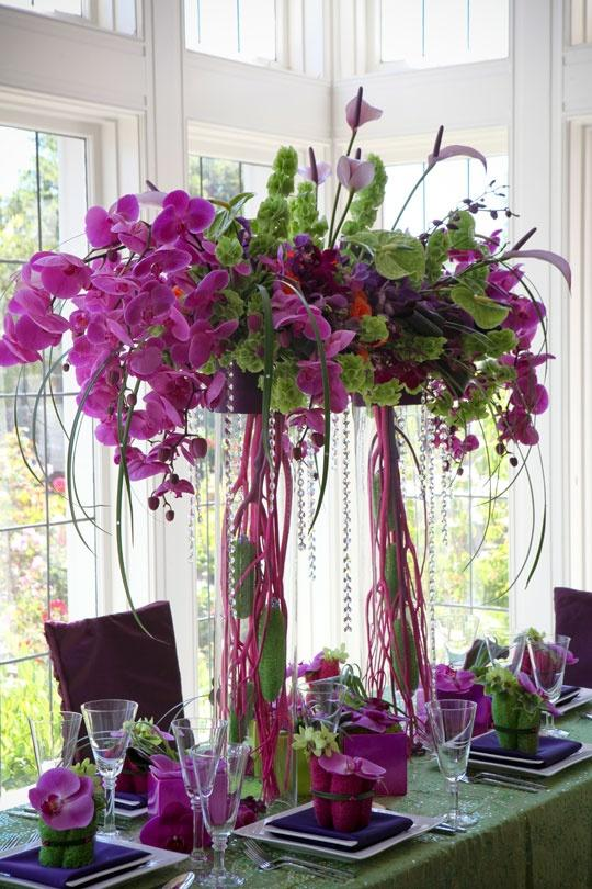 Purple wedding beautiful centerpiece weddbook