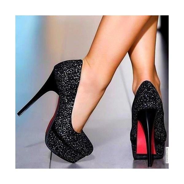 Black Wedding - Sparkly Black Heels #2065568 - Weddbook