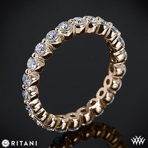زفاف - وارتفع الذهب 18K Ritani كامل الخلود الزفاف خاتم الماس