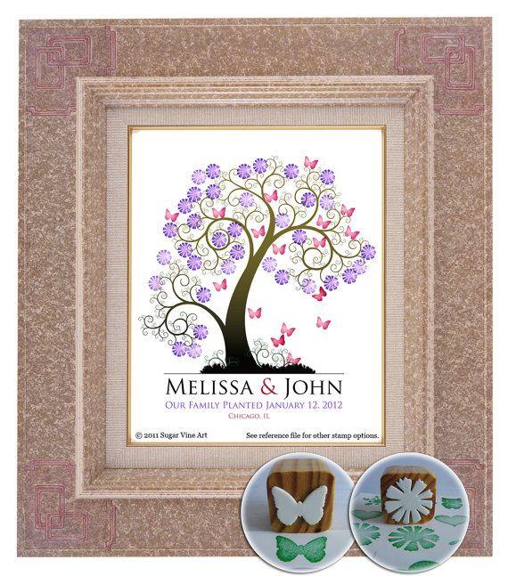 Gästebuch Hochzeit Baum Baum Hochzeits Gästebuch Fingerabdruck