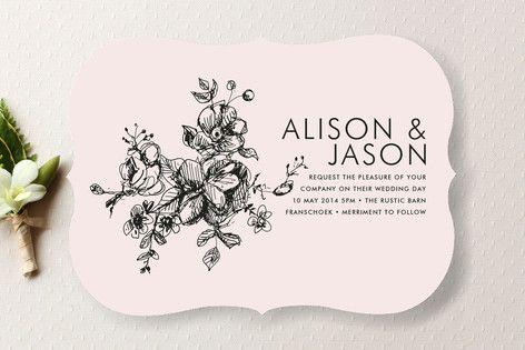 Wedding - Elegance Illustrated Wedding Invitations