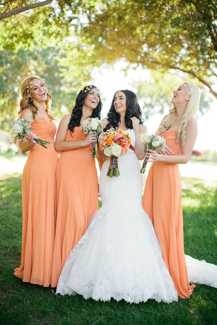 Orange wedding orange wedding theme 2066323 weddbook for Fall wedding dress colors