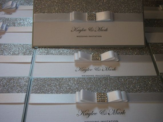 Handmade luxury wedding invitation the hollywood crystal for Luxury handcrafted wedding invitations