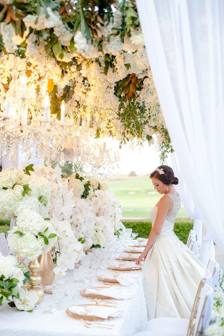 Свадьба - Гламурные Сад Вдохновение