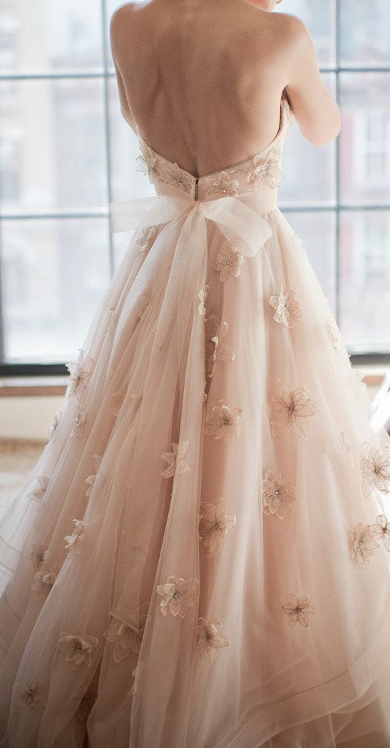 Romantic Wedding Blush Wedding Dress Wtoo 2066512 Weddbook