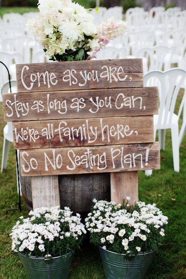 زفاف - لا خطة الجلوس ... لطيف جدا!