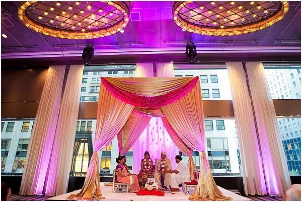 Indian Wedding Drape Mandap Instead Of Flowers 2066749 Weddbook