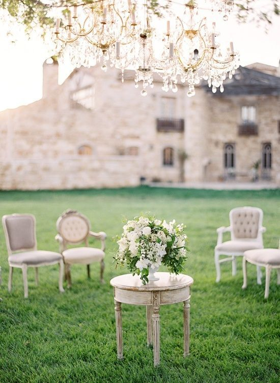 Wedding - French Furniture For The Lawn...