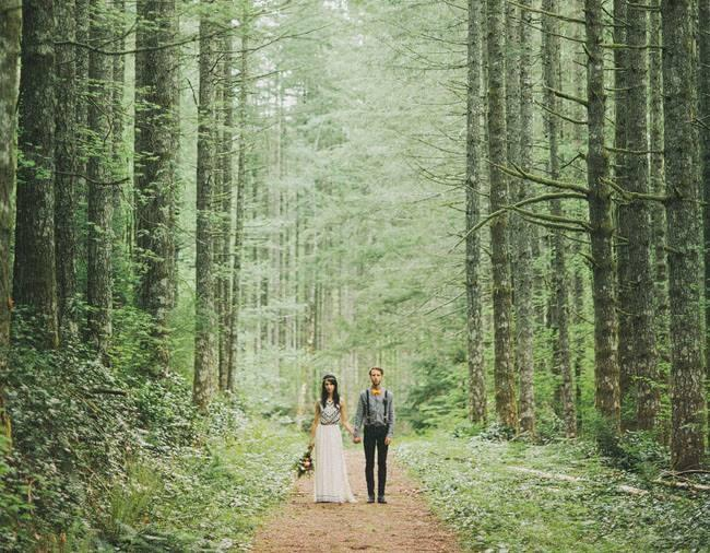زفاف - A فرار رومانسي في الغابة: لورا نيك
