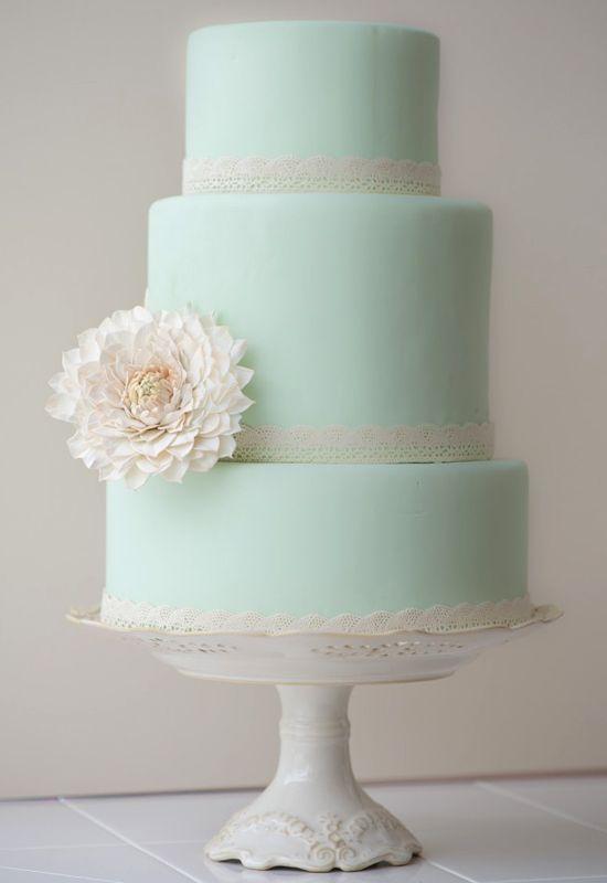 Свадьба - Мята Кружева Торт