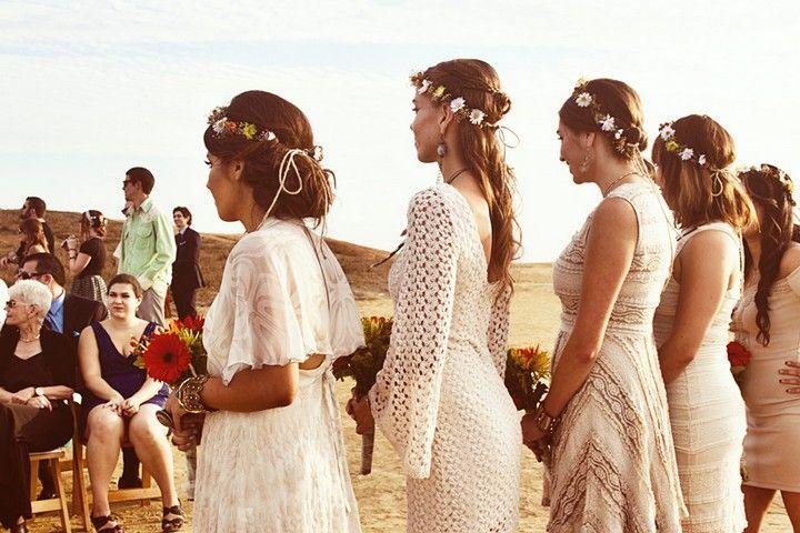 Mariage bohème plage de San Diego