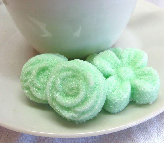 Свадьба - Мятный Зеленый Цветок И Роуз Формы 3 Десятков Кубиков Сахара
