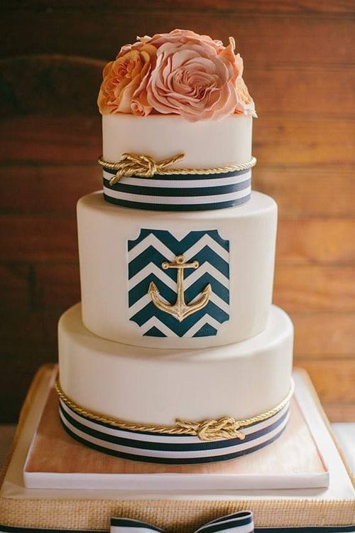 Wedding - Nautical Cake.