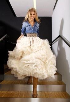Country Western robe de mariée