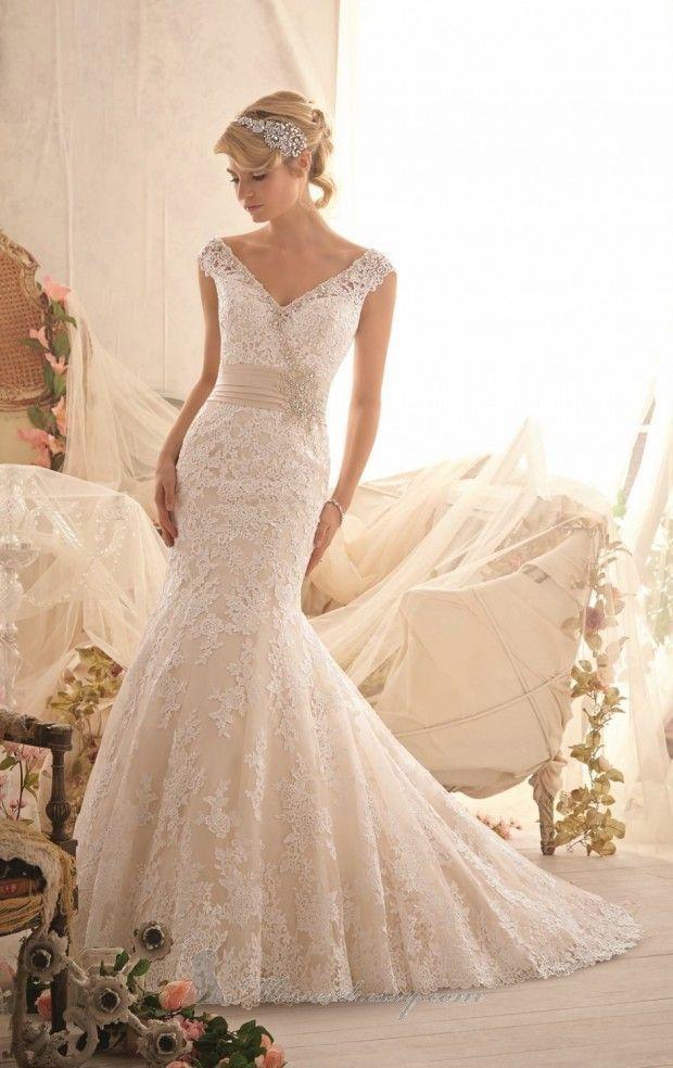 زفاف - 20 فساتين الدانتيل الزفاف للعرائس رومانسي