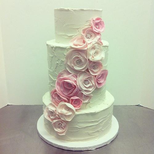 زفاف - كعكة الزفاف الوردي