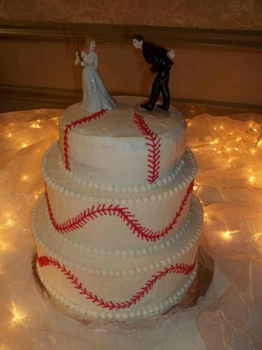 Wedding - Baseball Wedding Cake!