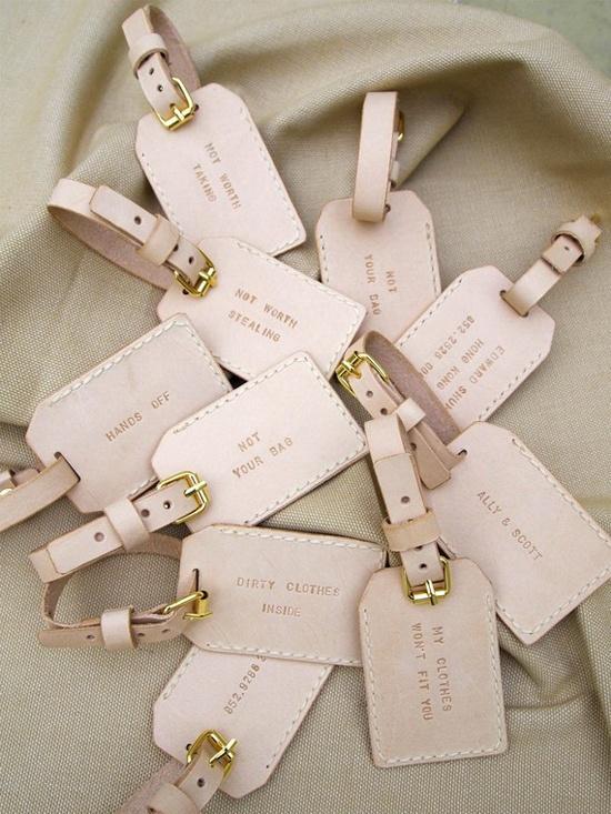 Wedding - Travel- Leather Bag Tags