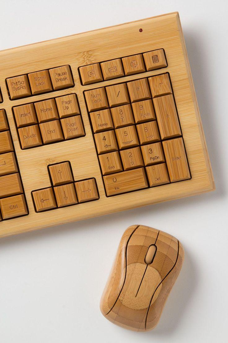 Hochzeit - Bambus-Tastatur-Maus