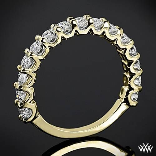 075ctw 18k Yellow Gold Annettes U Prong 3 4 Diamond Wedding Ring 2067786