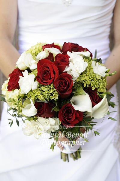 Wedding Bouquet Red And White Roses