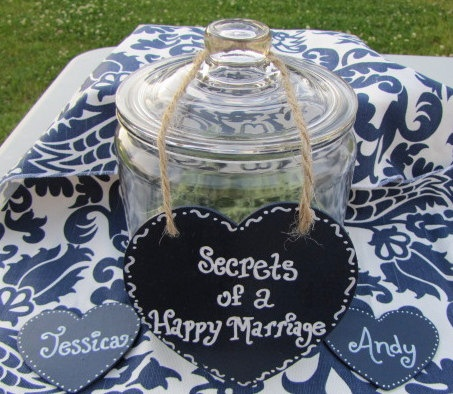 bridal shower or wedding reception keepsake jar perfect for a wedding guest book