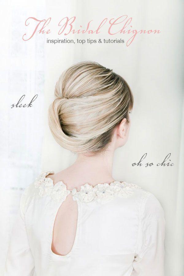 Inspiration Tutoriels De Cheveux De Mariage Le Chignon Classique 2067999 Weddbook