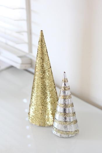 glitter christmas tree diy