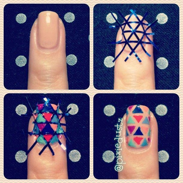 nails do it yourself see more about triangle nail art nail arts and ...