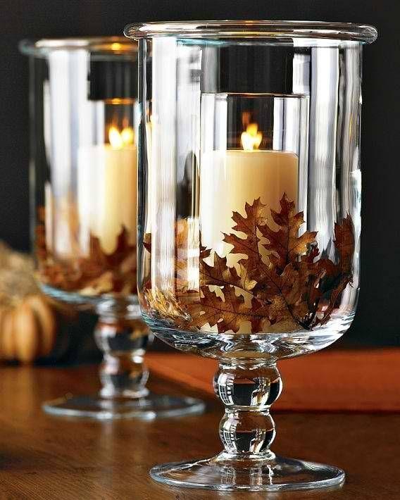Autumn wedding fall wedding centerpiece 2068362 weddbook for Fall candle centerpiece ideas