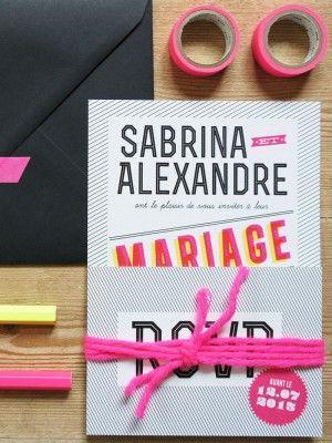 Boda - Moderno y de la boda Graphic Invitaciones de Sabrina Alex